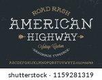 original handmade alphabet.... | Shutterstock .eps vector #1159281319