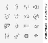 set of music related vector... | Shutterstock .eps vector #1159284919
