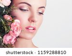 portrait of a young beautiful... | Shutterstock . vector #1159288810