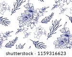 floral seamless pattern with... | Shutterstock .eps vector #1159316623