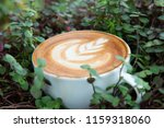 a cup of hot latte coffee cup | Shutterstock . vector #1159318060