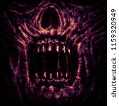 scary zombie jaws on black... | Shutterstock . vector #1159320949