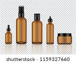 mock up realistic glossy amber... | Shutterstock .eps vector #1159327660