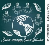 save energy save future with... | Shutterstock .eps vector #1159327903