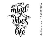 positive mind  positive vibes ... | Shutterstock .eps vector #1159328836