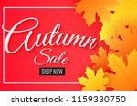 autumn sale. advertising... | Shutterstock .eps vector #1159330750