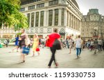 anonymous motion blurred people ... | Shutterstock . vector #1159330753