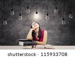 portrait of smart female...   Shutterstock . vector #115933708