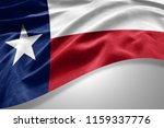 texas flag of silk with... | Shutterstock . vector #1159337776