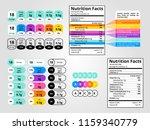 nutrition facts label set.... | Shutterstock .eps vector #1159340779