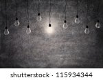 bright idea concept  on and off ... | Shutterstock . vector #115934344