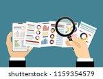 fat vector banner for analytic... | Shutterstock .eps vector #1159354579