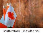 a close up of an canadian flag... | Shutterstock . vector #1159354723