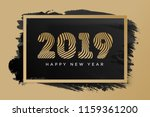 christmas card with sign 2019... | Shutterstock .eps vector #1159361200