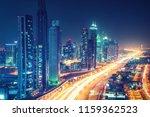 scenic nighttime skyline of... | Shutterstock . vector #1159362523