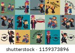 congrats flat set. college... | Shutterstock .eps vector #1159373896