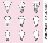 set of halogen bulb icons on... | Shutterstock .eps vector #1159376800