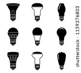 halogen bulb icon set. vector... | Shutterstock .eps vector #1159376803