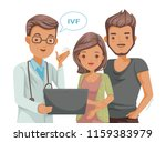 couple meeting medical... | Shutterstock .eps vector #1159383979
