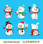 set of winter holidays happy... | Shutterstock .eps vector #1159389319