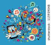 fun mobile phone | Shutterstock .eps vector #115939048