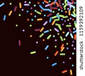 sprinkles grainy. sweet... | Shutterstock .eps vector #1159392109