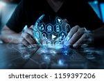 digital marketing media ... | Shutterstock . vector #1159397206