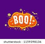 boo letters on exploding comic...   Shutterstock .eps vector #1159398136