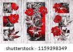 collection of designer oil... | Shutterstock . vector #1159398349