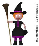 witch halloween 3d illustration | Shutterstock . vector #1159400836