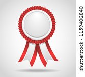 award with red ribbon. vector... | Shutterstock .eps vector #1159402840