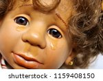 sad doll weeping   the concept...   Shutterstock . vector #1159408150