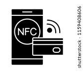 nfc technology glyph icon. near ...   Shutterstock .eps vector #1159408606