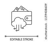e wallet linear icon. online...   Shutterstock .eps vector #1159408609