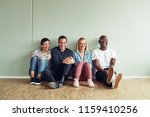 diverse group of young... | Shutterstock . vector #1159410256