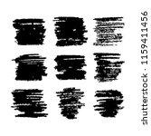 black vector strokes of pastel... | Shutterstock .eps vector #1159411456