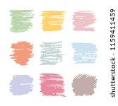 color vector strokes of pastel... | Shutterstock .eps vector #1159411459