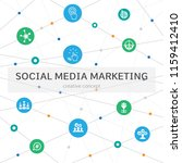 social media marketing... | Shutterstock .eps vector #1159412410