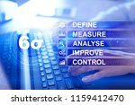 six sigma   set of techniques... | Shutterstock . vector #1159412470