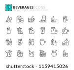 outline icons about beverages.... | Shutterstock .eps vector #1159415026