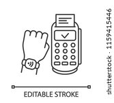 nfc smartwatch linear icon.... | Shutterstock .eps vector #1159415446