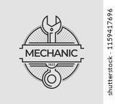auto mechanic service. mechanic ... | Shutterstock .eps vector #1159417696