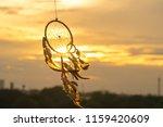 dream catcher on the sunset... | Shutterstock . vector #1159420609