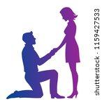 romantic couple on a white... | Shutterstock .eps vector #1159427533