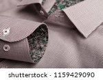 sleeve of a luxury shirt. close ... | Shutterstock . vector #1159429090