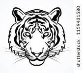 Tiger Head Symbol Illustration...