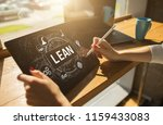 lean manufacturing. quality and ... | Shutterstock . vector #1159433083