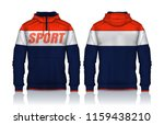 hoodie shirts template.jacket...   Shutterstock .eps vector #1159438210