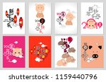 happy chinese new year 2019 ... | Shutterstock .eps vector #1159440796