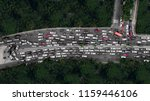 Top View Of Heavy Traffic With...
